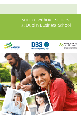 Science without Borders at Dublin Business School