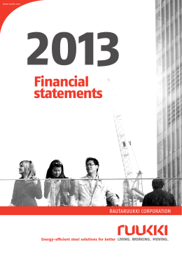 Ruukki Financial Statements 2013