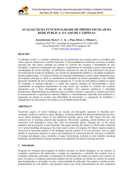 avaliação da funcionalidade de prédio escolar da rede publica