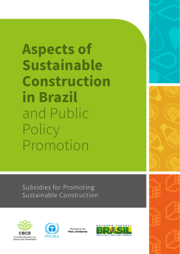 Aspects of Sustainable Construction in Brazil and Public