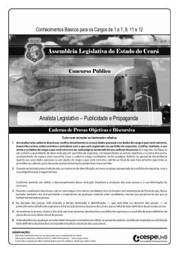 Analista Legislativo – Publicidade e Propaganda