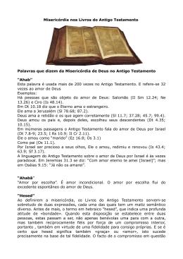 a misericórdia na Bíblia
