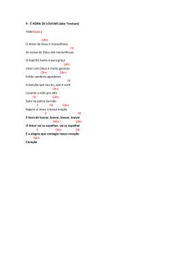9 - É HORA DE LOUVAR (Jake Trevisan) TOM (G#m) G#m O Amor