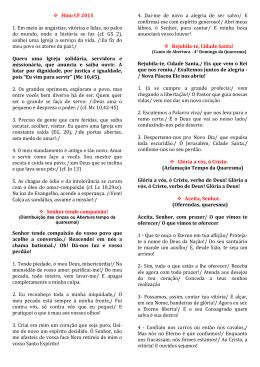 Apostila de Cantos da CF 2015. - Diocese de Ji