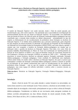 K Silva_K Ramos_Formacao para a docencia