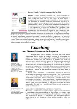 Artigo – Coaching em Gerenciamento de Projetos