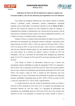 SONDAGEM INDUSTRIAL MARÇO 2015