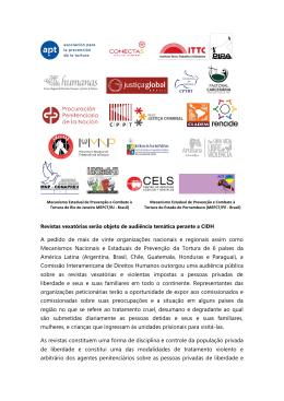 A pedido de mais de vinte organizações nacionais e regionais