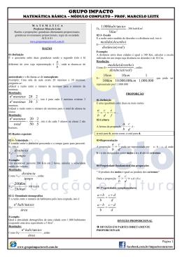 Matemática básica - Módulo Completo (Marcelo