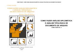 como fazer análise diplomática e análise tipológica de - ARQ-SP