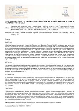 perfil epidemiológico de pacientes com deficiência