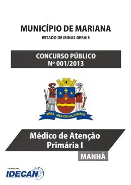 MÉDICO DE ATENÇÃO PRIMÁRIA I