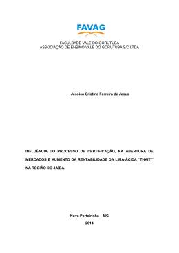 FACULDADE VALE DO GORUTUBA ASSOCIAÇÃO DE ENSINO