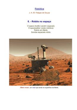 Robótica 6. - Robôs no espaço - Universidade da Beira Interior