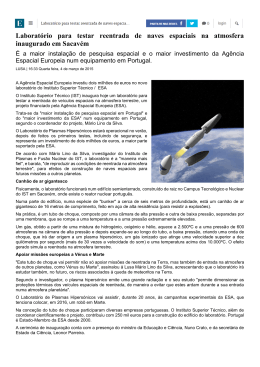 Laboratório para testar reentrada de naves espaciais na
