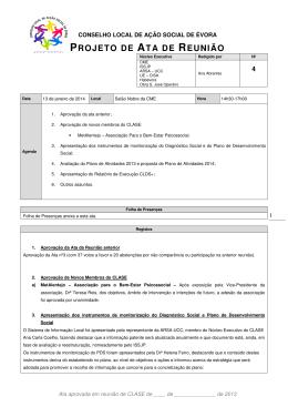 PROJETO DE ATA DE REUNIÃO