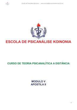 ESCOLA DE PSICANÁLISE KOINONIA