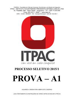 PROVA – A1