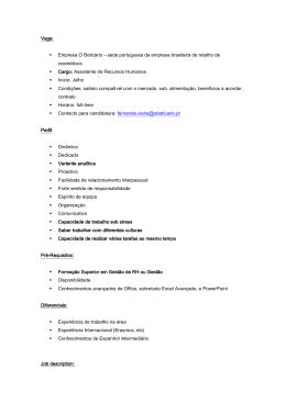 Vaga: Empresa O Boticário – sede portuguesa da empresa