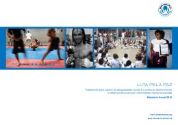 Leia o Relatório Anual da Luta pela Paz 2010