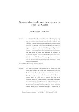 Karuwara: observando sobrenaturais entre os Tembé do Guamá