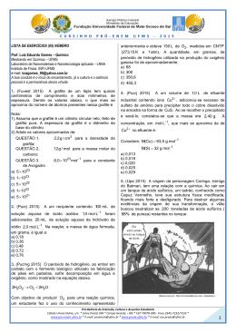 lista de exercícios 05 - CURSINHO PRÓ