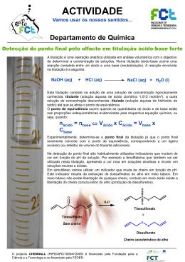 Detecção do ponto final pelo olfacto em titulação ácido