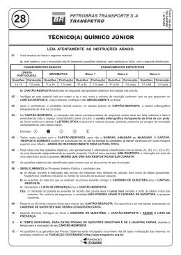 PROVA 28 - TÉCNICO(A) QUÍMICO JÚNIOR.indd