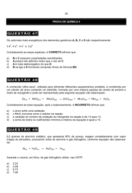 QUÍMICA II - PUC Minas