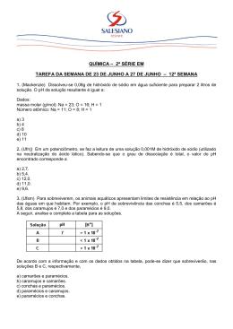 Questões de Química - Instituto São José Salesiano Resende/RJ