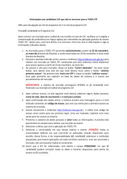 Orientações aos candidatos CsF que vão se inscrever para o