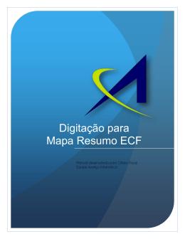Digitação para Mapa Resumo ECF