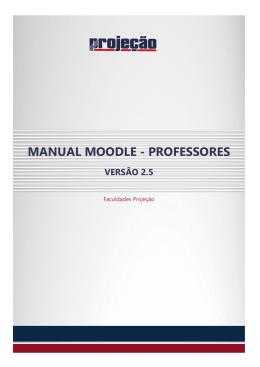 manual moodle - professores - Faculdade Projeção