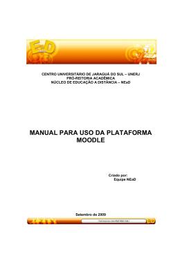 MANUAL PARA USO DA PLATAFORMA MOODLE