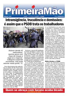 é assim que o PSDB trata os trabalhadores