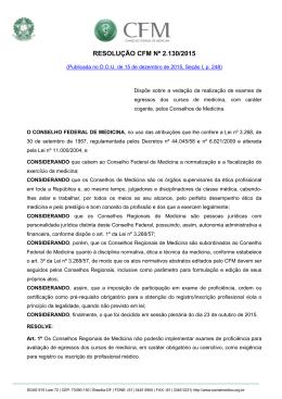 TERMO DE ATESTO - Conselho Federal de Medicina