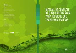 manual de controle da qualidade da água para técnicos
