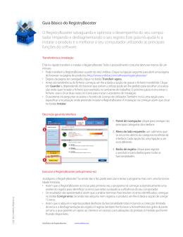 Guia Básico do RegistryBooster O RegistryBooster