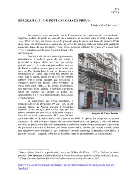 BERGGASSE 19 – UM POETA NA CASA DE FREUD