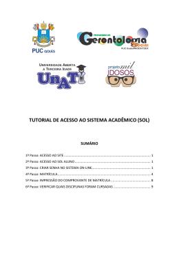 TUTORIAL DE ACESSO AO SISTEMA ACADÊMICO (SOL)