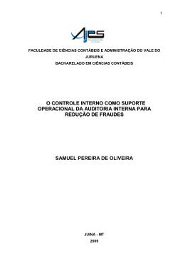 o controle interno como suporte operacional da auditoria interna