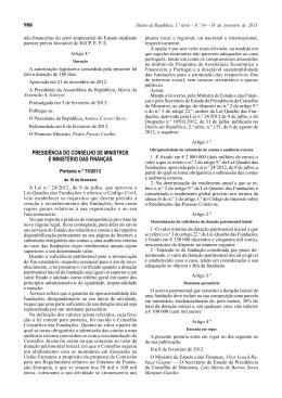 Portaria n.º 75/2013, de 18 de Fevereiro - Secretaria