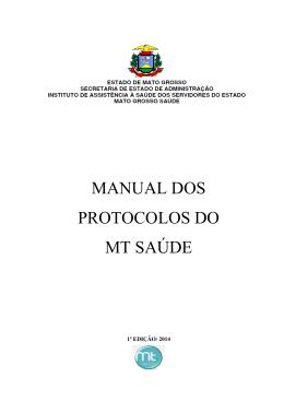 Protocolos MT SAÚDE - 2014