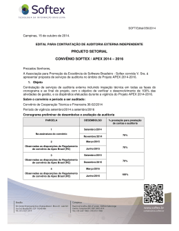 Auditoria Projeto APEX