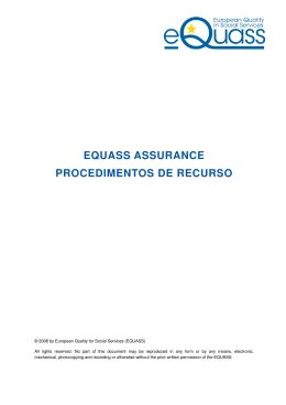 EQUASS ASSURANCE PROCEDIMENTOS DE RECURSO
