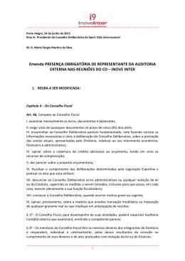 proposta de emenda presença da auditoria nas reuniões do cd