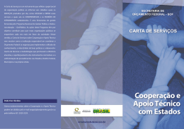 Cooperação e Apoio Técnico com Estados