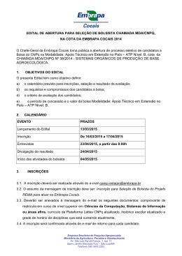 Bolsa do CNPq na Modalidade: Apoio Técnico em Extensão no País