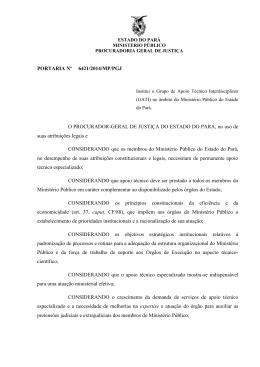 PORTARIA Nº 6421/2014/MP/PGJ O PROCURADOR