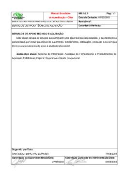 Anexo 6 - Serviços de Apoio Técnico e Aquisição